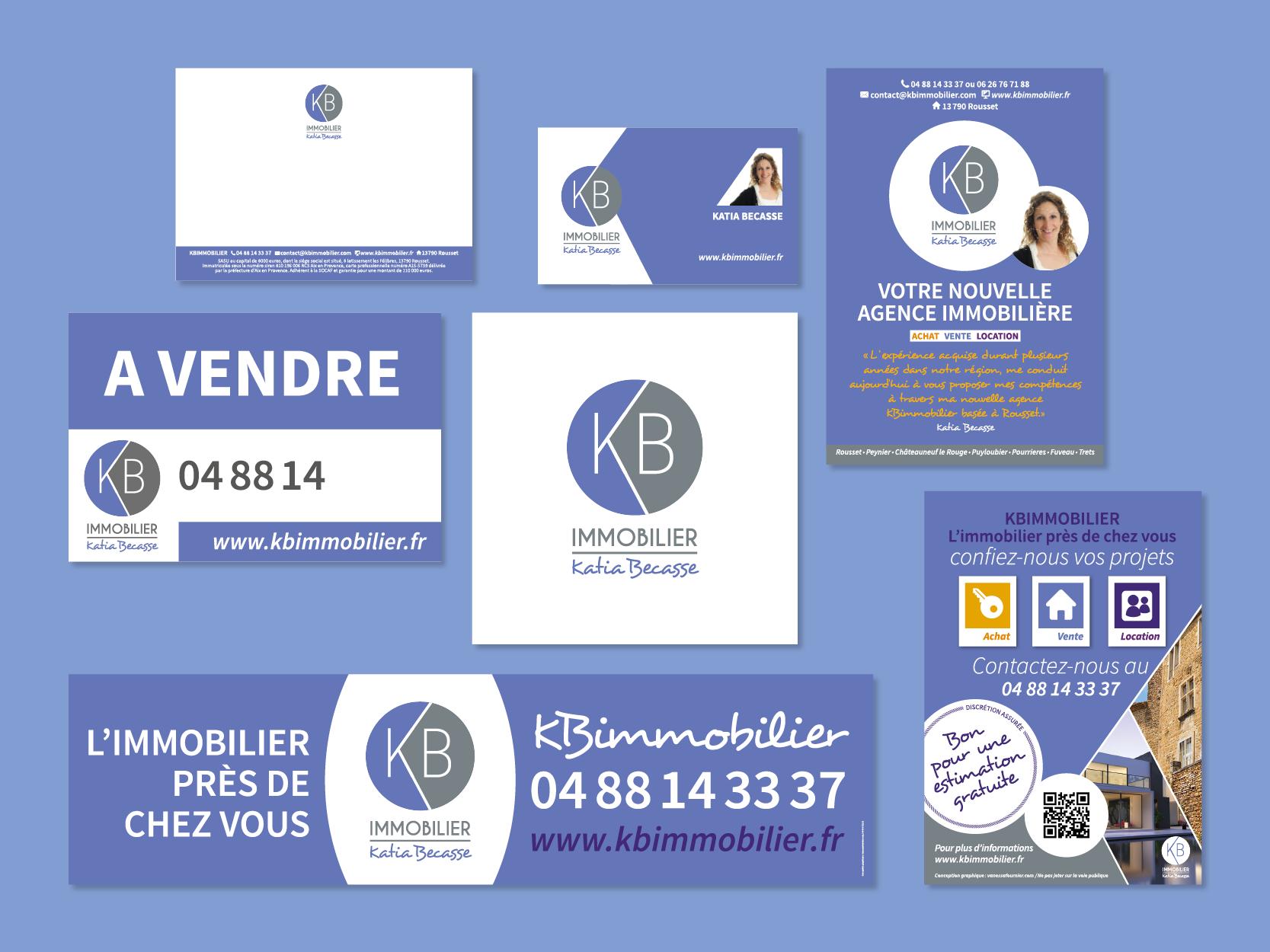 Identité visuelle, logo agence immobiliere